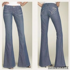 William Rast DAISY Super Flare Light Blue Jeans